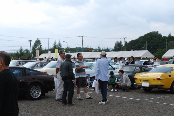 nostalgic car in hachimantai